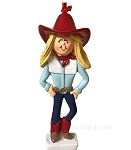 Blonde Cowgirl with Red Hat Ornament -
