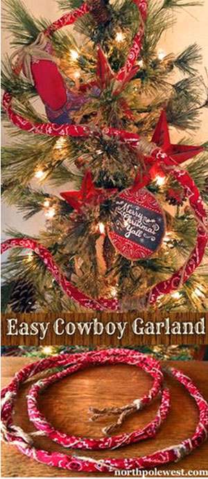 DIY Cowboy Christmas Tree