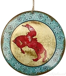 Cowboy on Bronc Medallion Ornament