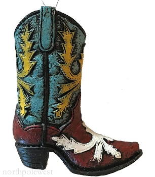Cowboy Boot Ornament -
