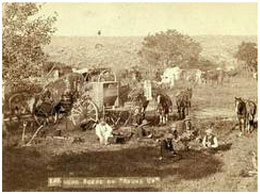 old picture of cowboy round-up