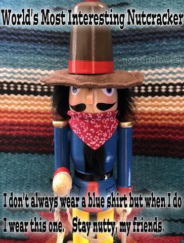 Interesting Cowboy Christmas nutcracker