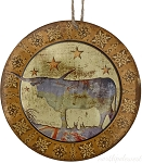 Longhorn Medallion Ornament