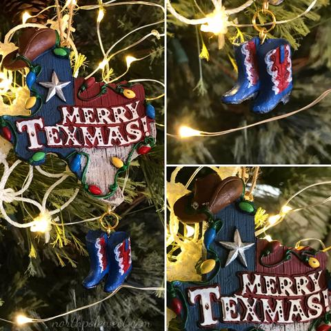 Texas Merry Texmas Christmas tree ornament