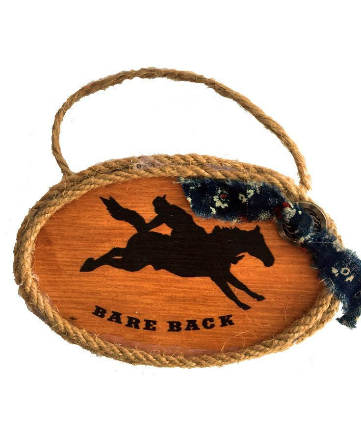 Cowboy Christmas Ornament - Bare Back Rider