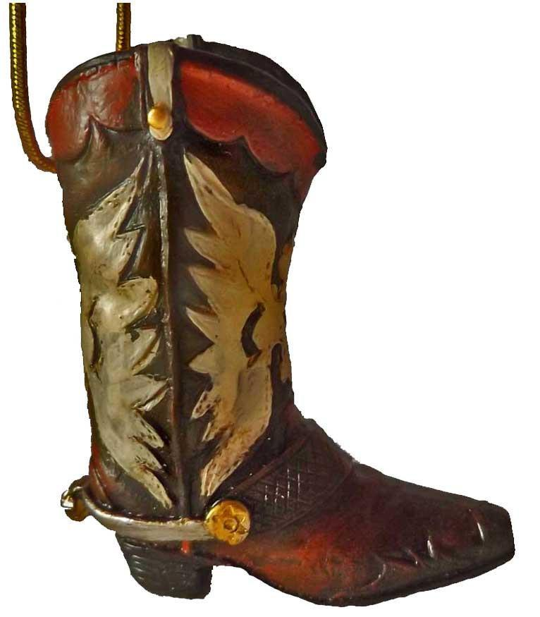 Cowboy Christmas Ornament - Cowboy Boot -  Phoenix Design