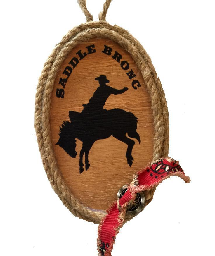 Cowboy Christmas Ornament - Saddle Bronc