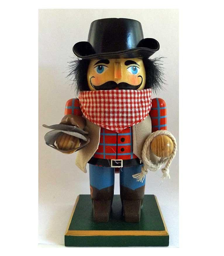 Cowboy Nutcracker with Saddle - Saddle Up Sam