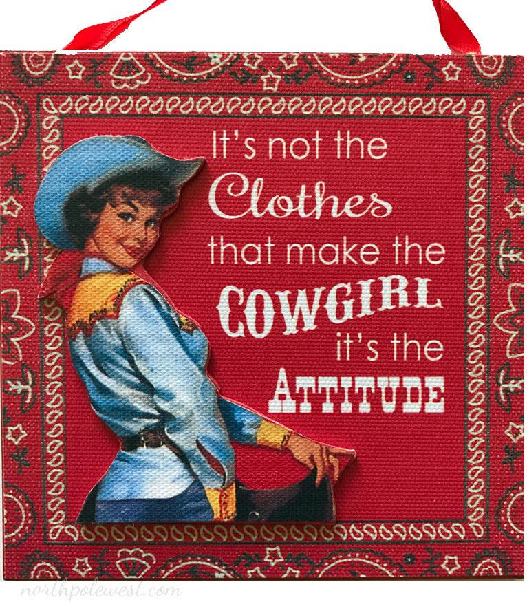 Cowgirl Christmas Ornament -