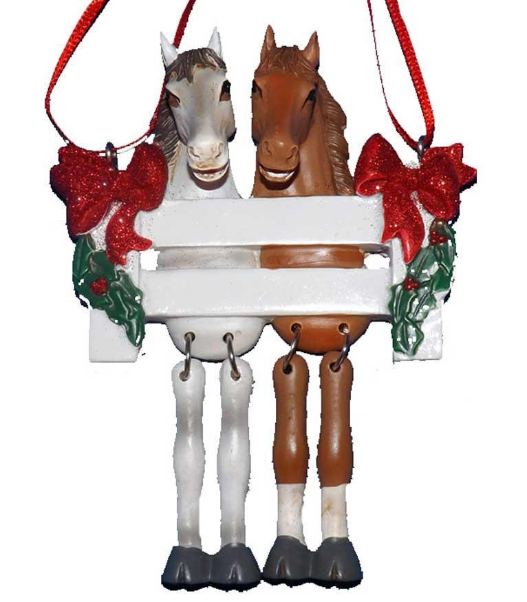 Horse Couple Ornament