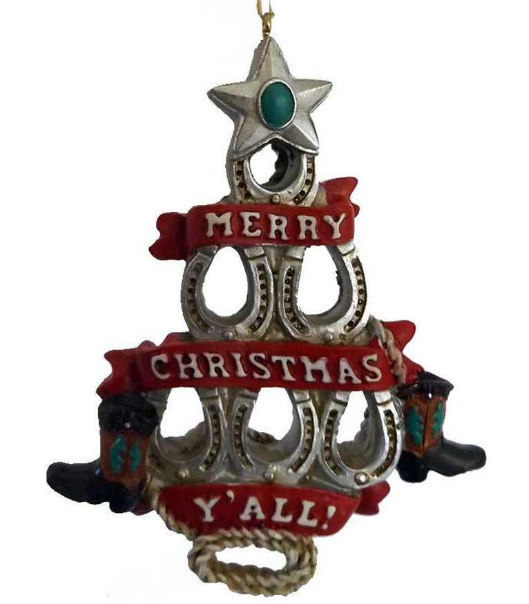 Horseshoe Christmas Tree Ornament
