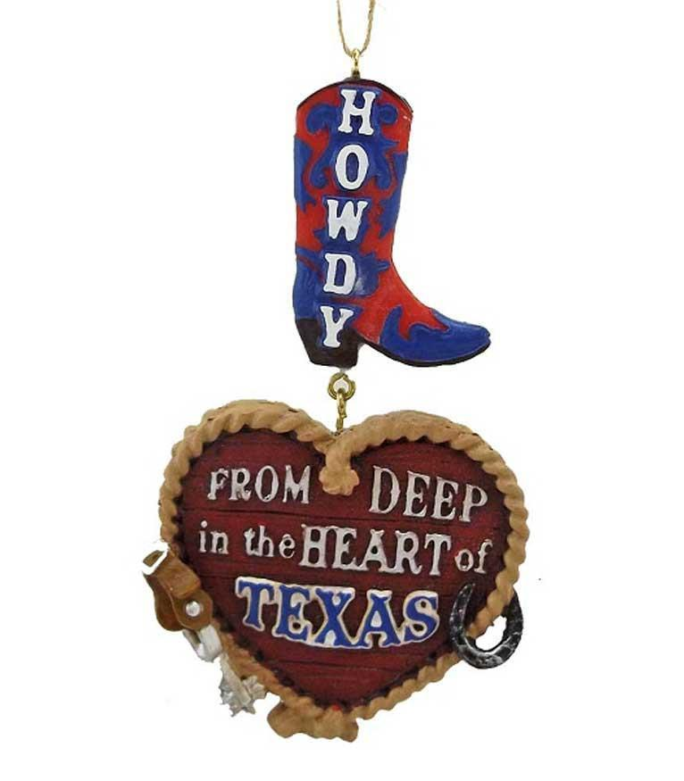 Howdy From Texas Christmas Ornament Decoration