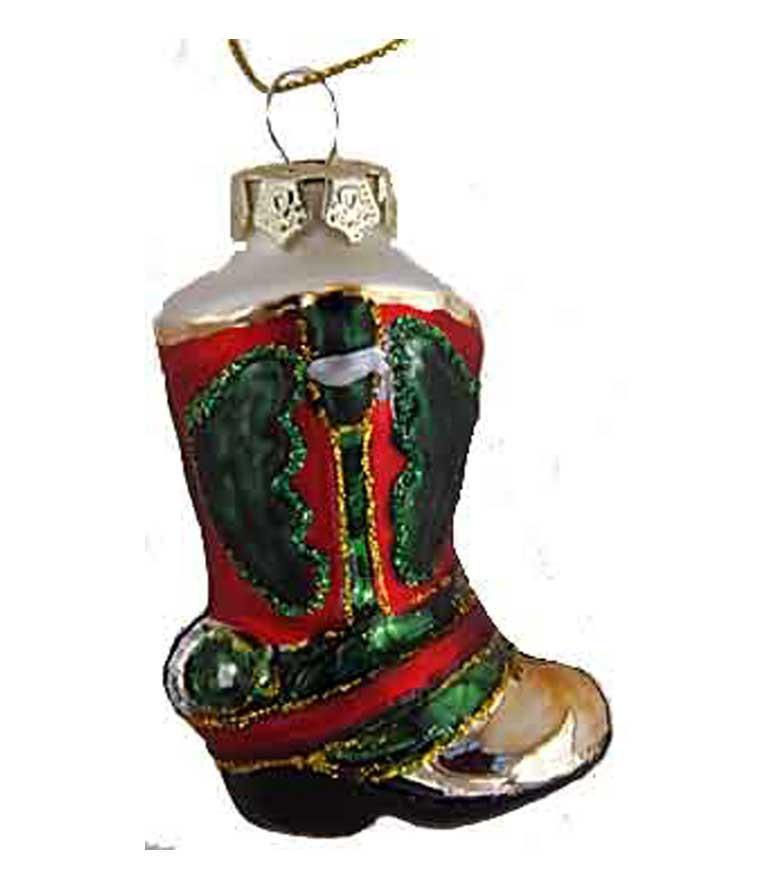 Mini Glass Boot Ornament