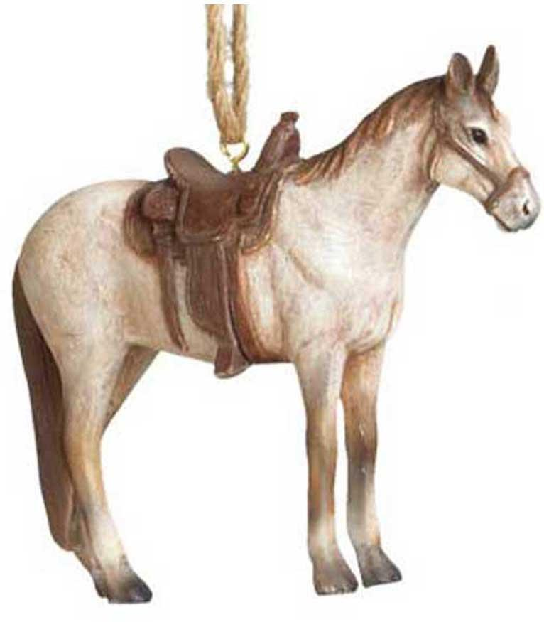 Rodeo Saddle Horse Ornament - Handsome