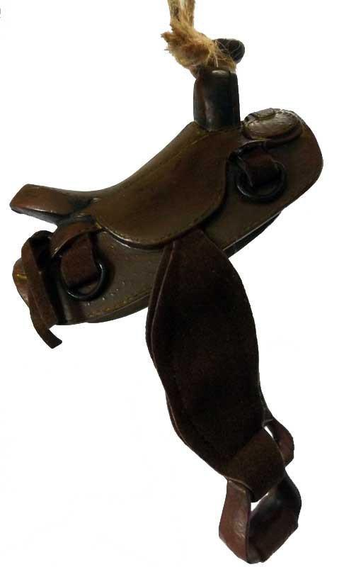 Roping Riding Cowboy Saddle Ornament