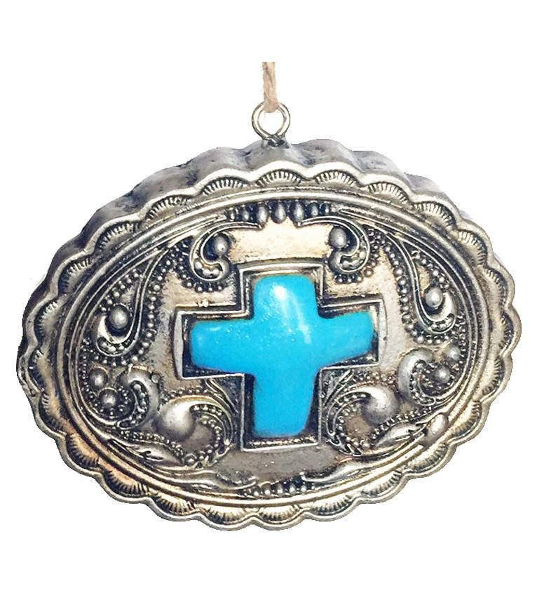 Southwestern  Christmas Ornament - Concho with Cross