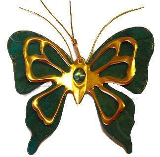 Southwestern Christmas Ornament _ Copper Butterfly