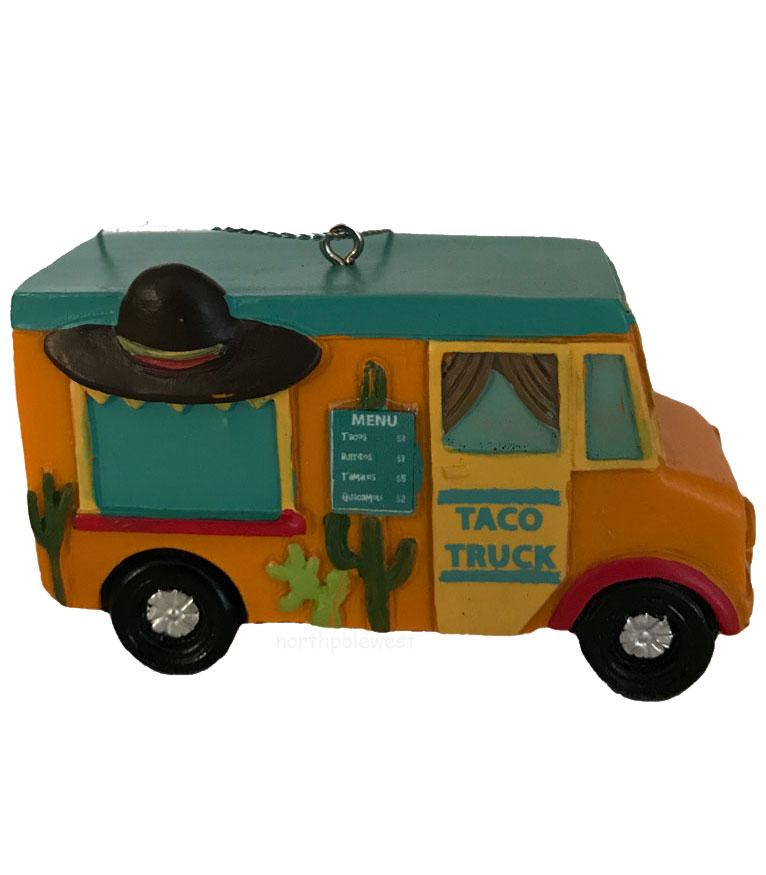 Southwestern Taco Food Truck Christmas Ornament