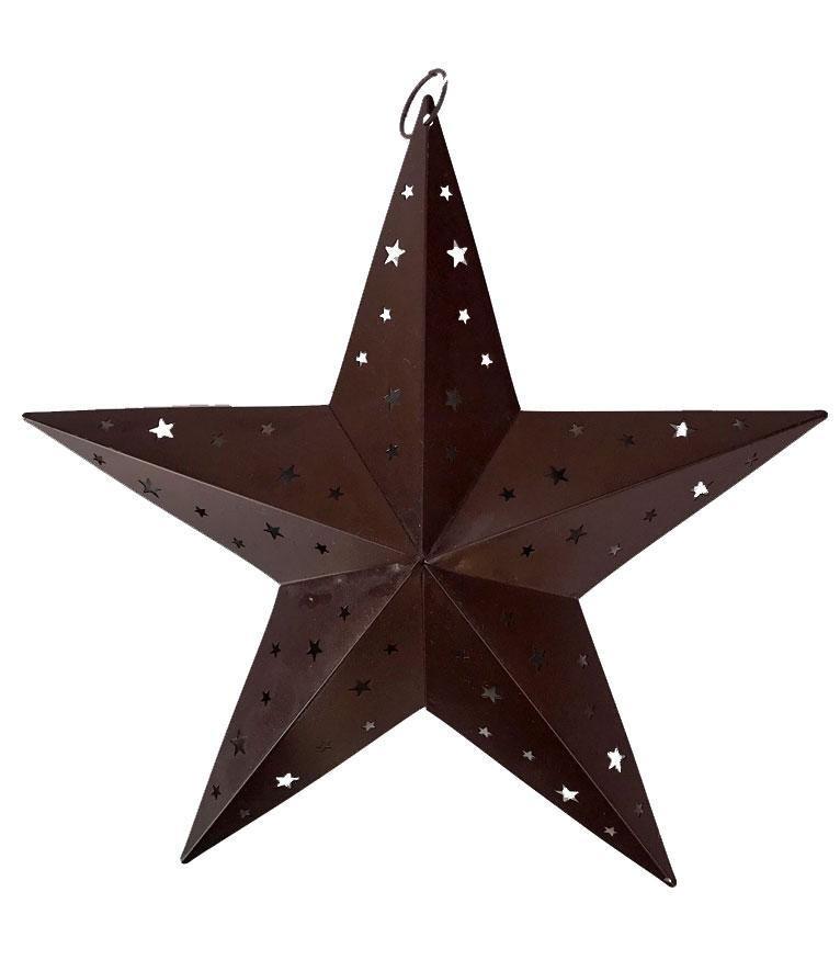 Tin Western Star Ornament 8