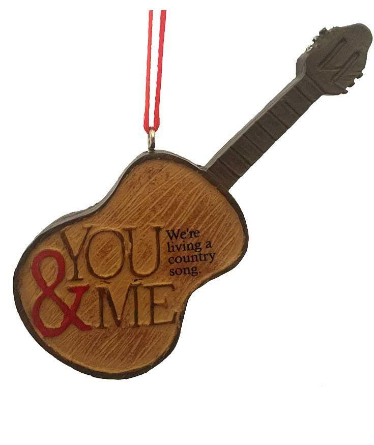 Western Christmas Ornament - Country Music Guitar