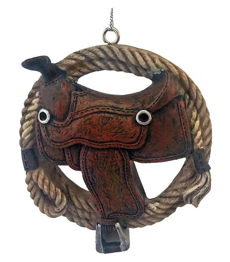 Western Lasso and Saddle Ornament