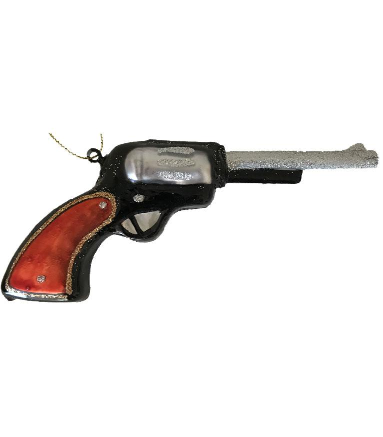 Wild West Christmas Ornament - Glass Six-Gun