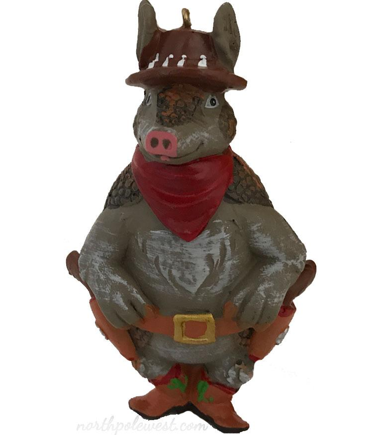 Armadillo Christmas Ornament- Armadilly Willie