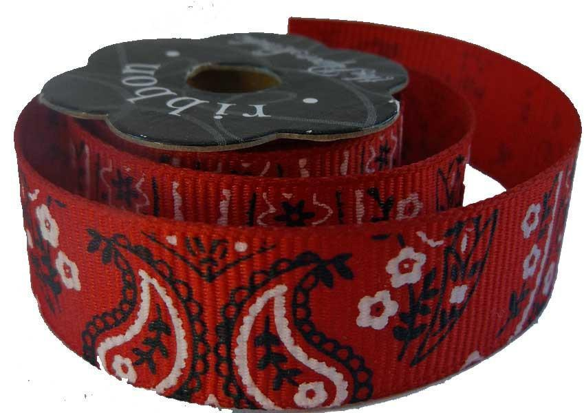 Bandana Grosgrain Ribbon -  5/8