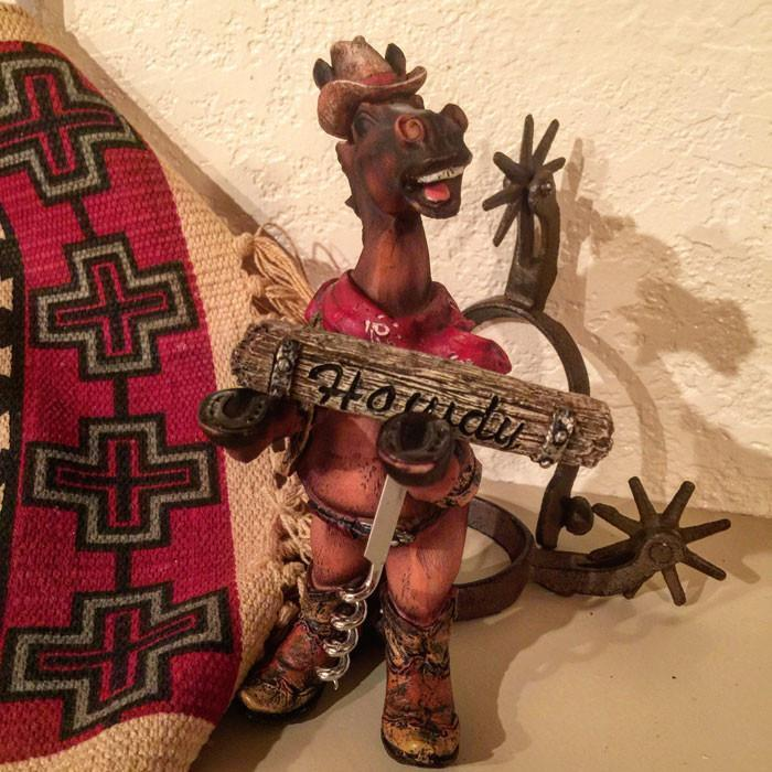 Country Western Cowboy Horse Corkscrew Holder-  Sale