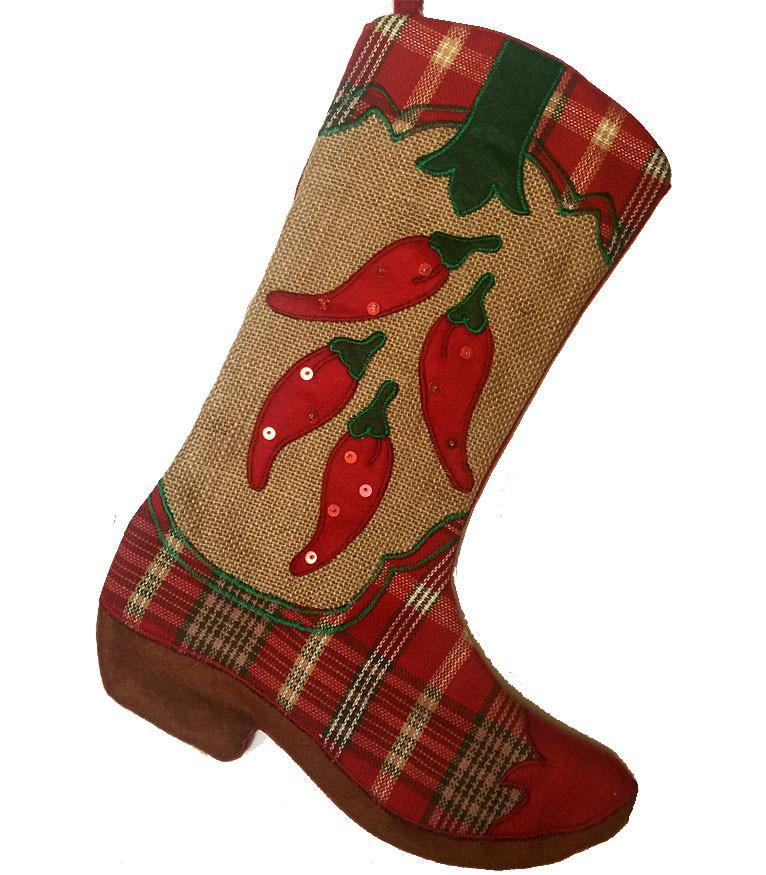 Cowboy Boot Christmas Stocking - Hot Foot Chili