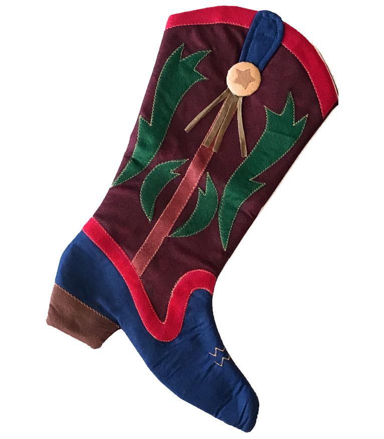 Cowboy Boot Christmas Stocking - The Colorful Cowpoke