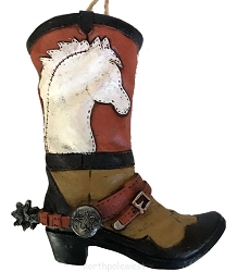 Cowboy Boot with Spur Christmas Ornament - Horsin' Around