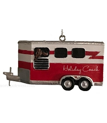 Horse Trailer Christmas Ornament -