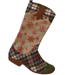 Western Christmas Stockings Personalized.Cowboy Cowgirl Boot Christmas Stockings