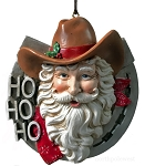 Horseshoe Cowboy Santa Ornament
