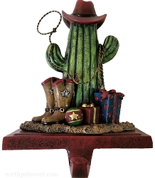 Saguaro Cowboy Christmas Stocking Holder