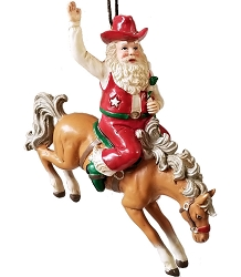 Cowboy Santa Rodeo Ornament -