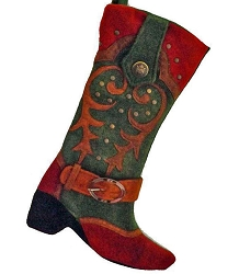 Cowboy Boot Stocking - Wooley West