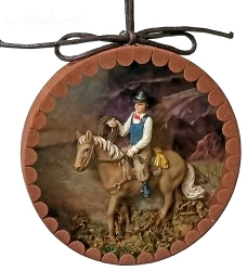 Roping Riding Cowboy Old West Ornament