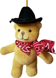 Cute Cowboy Bear Christmas Ornament