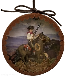 Rim Rock Riding Cowboy Old West Ornament