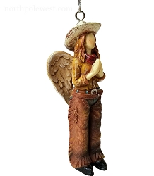Pretty Cowgirl Angel with Chaps Ornament