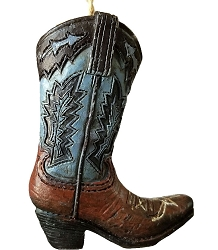 Cowboy Boot Christmas Ornament -