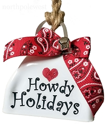 Cowbell Howdy Holidays Ornament