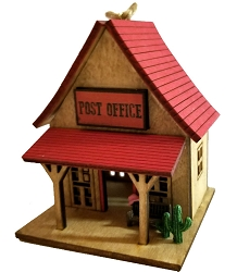 Wild West Town Ornament