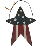 Red White & Blue Star Ornament
