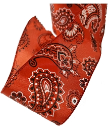 Festive Red Bandana Wired Ribbon