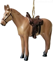 Rodeo Saddle Horse Ornament - Palomino