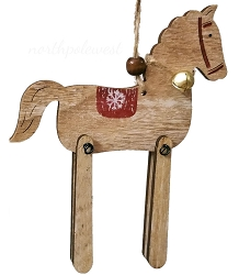 Wooden Toy Horse Ornament