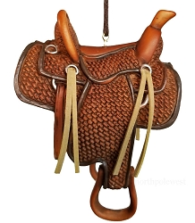 Handsome Cowboy Saddle Ornament